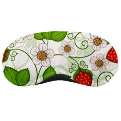 Strawberry Fruit Leaf Flower Floral Star Green Red White Sleeping Masks by Mariart