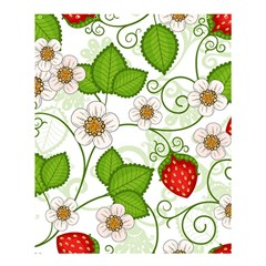 Strawberry Fruit Leaf Flower Floral Star Green Red White Shower Curtain 60  X 72  (medium)  by Mariart