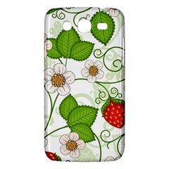 Strawberry Fruit Leaf Flower Floral Star Green Red White Samsung Galaxy Mega 5 8 I9152 Hardshell Case  by Mariart