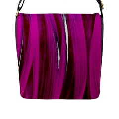 Abstraction Flap Messenger Bag (l)  by Valentinaart