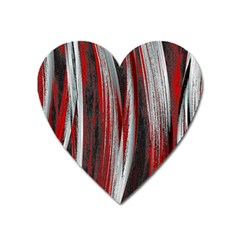 Abstraction Heart Magnet by Valentinaart
