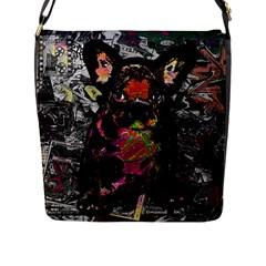 Bulldog Flap Messenger Bag (l)  by Valentinaart