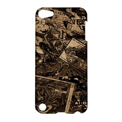 Vintage Newspaper  Apple Ipod Touch 5 Hardshell Case by Valentinaart