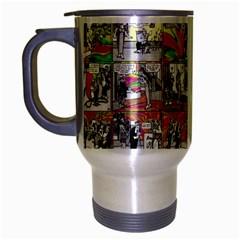 Comic Book  Travel Mug (silver Gray) by Valentinaart