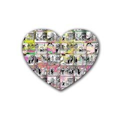 Comic Book  Heart Coaster (4 Pack)  by Valentinaart