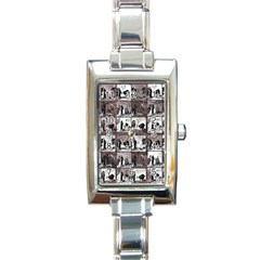 Comic Book  Rectangle Italian Charm Watch by Valentinaart