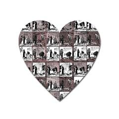 Comic Book  Heart Magnet by Valentinaart