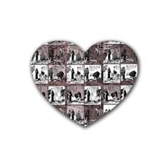 Comic Book  Rubber Coaster (heart)  by Valentinaart