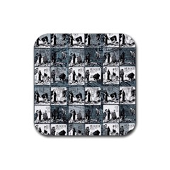 Comic Book  Rubber Coaster (square)  by Valentinaart