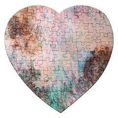 Cold Stone Abstract Jigsaw Puzzle (heart) by theunrulyartist