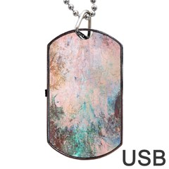 Cold Stone Abstract Dog Tag Usb Flash (two Sides) by theunrulyartist