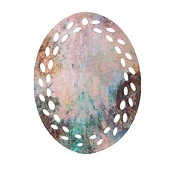 Cold Stone Abstract Oval Filigree Ornament (two Sides) by theunrulyartist