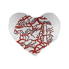 Twenty One Pilots Tear In My Heart Soysauce Remix Standard 16  Premium Flano Heart Shape Cushions by Onesevenart