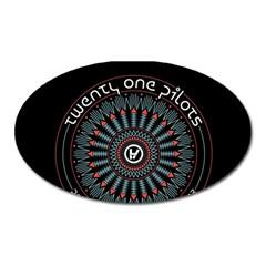 Twenty One Pilots Oval Magnet by Onesevenart