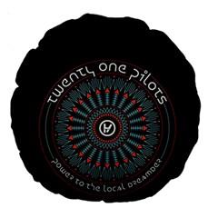 Twenty One Pilots Large 18  Premium Round Cushions by Onesevenart