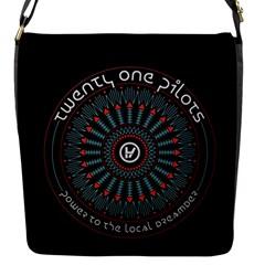 Twenty One Pilots Flap Messenger Bag (s) by Onesevenart