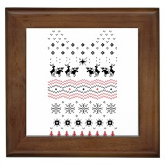 Ugly Christmas Humping Framed Tiles by Onesevenart