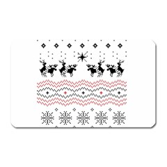 Ugly Christmas Humping Magnet (rectangular) by Onesevenart