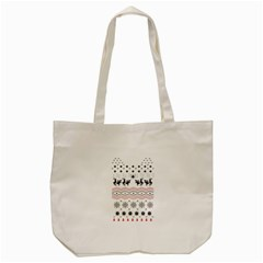 Ugly Christmas Humping Tote Bag (cream) by Onesevenart
