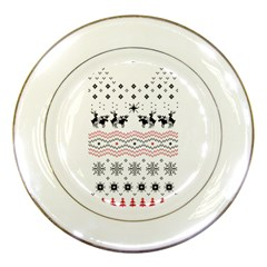 Ugly Christmas Humping Porcelain Plates by Onesevenart