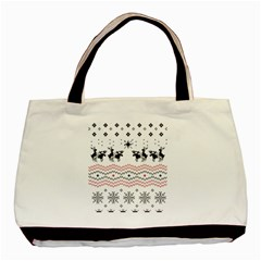 Ugly Christmas Humping Basic Tote Bag (two Sides) by Onesevenart