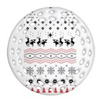 Ugly Christmas Humping Ornament (Round Filigree)