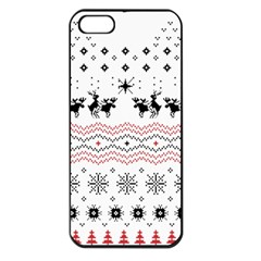 Ugly Christmas Humping Apple Iphone 5 Seamless Case (black) by Onesevenart
