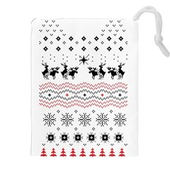 Ugly Christmas Humping Drawstring Pouches (xxl) by Onesevenart