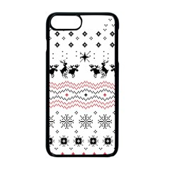 Ugly Christmas Humping Apple Iphone 7 Plus Seamless Case (black) by Onesevenart