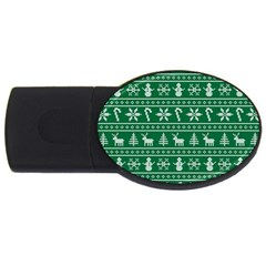Ugly Christmas Usb Flash Drive Oval (2 Gb) by Onesevenart
