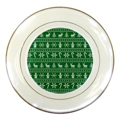 Ugly Christmas Porcelain Plates by Onesevenart