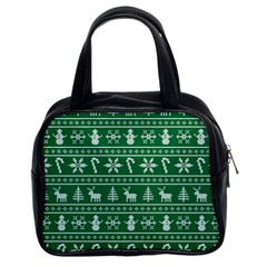 Ugly Christmas Classic Handbags (2 Sides) by Onesevenart
