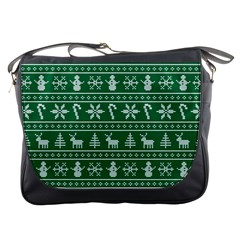 Ugly Christmas Messenger Bags by Onesevenart