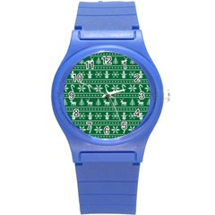 Ugly Christmas Round Plastic Sport Watch (s) by Onesevenart