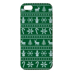 Ugly Christmas Apple Iphone 5 Premium Hardshell Case by Onesevenart