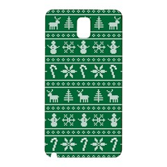 Ugly Christmas Samsung Galaxy Note 3 N9005 Hardshell Back Case by Onesevenart