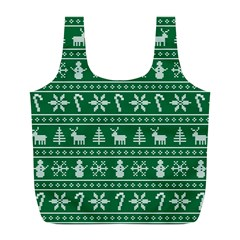 Ugly Christmas Full Print Recycle Bags (l)  by Onesevenart