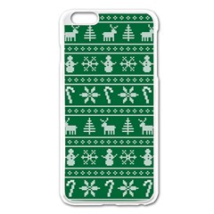 Ugly Christmas Apple Iphone 6 Plus/6s Plus Enamel White Case by Onesevenart