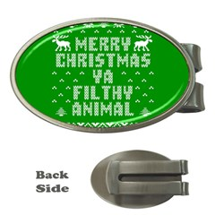 Ugly Christmas Sweater Money Clips (oval)  by Onesevenart