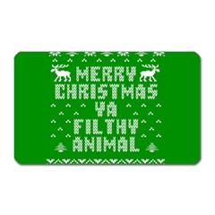 Ugly Christmas Sweater Magnet (rectangular) by Onesevenart