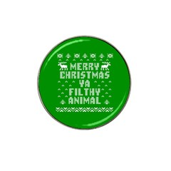 Ugly Christmas Sweater Hat Clip Ball Marker (4 Pack) by Onesevenart