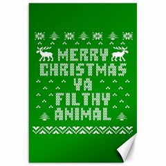 Ugly Christmas Sweater Canvas 20  X 30   by Onesevenart