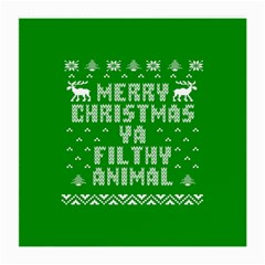 Ugly Christmas Sweater Medium Glasses Cloth by Onesevenart