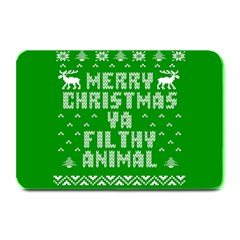 Ugly Christmas Sweater Plate Mats by Onesevenart