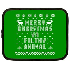 Ugly Christmas Sweater Netbook Case (xl)  by Onesevenart