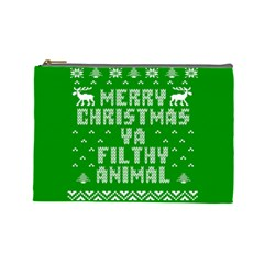 Ugly Christmas Sweater Cosmetic Bag (large)  by Onesevenart