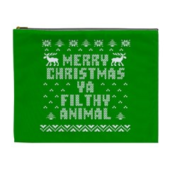 Ugly Christmas Sweater Cosmetic Bag (xl) by Onesevenart
