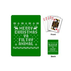 Ugly Christmas Sweater Playing Cards (mini)  by Onesevenart