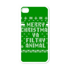 Ugly Christmas Sweater Apple Iphone 4 Case (white) by Onesevenart