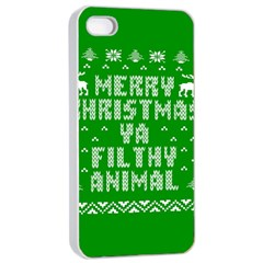 Ugly Christmas Sweater Apple Iphone 4/4s Seamless Case (white) by Onesevenart